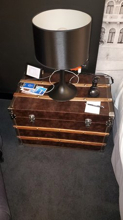 Trunk used as a night stand