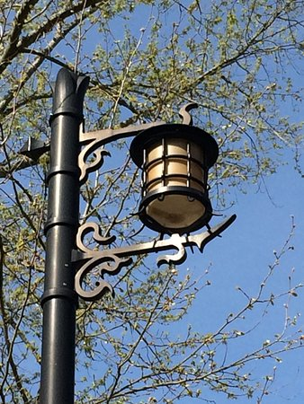 Even the streetlights are picturesque in the Village.