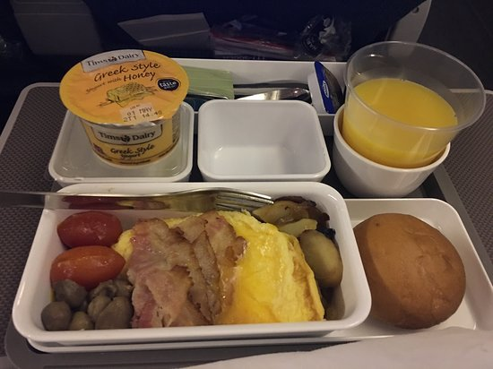 Cathay Pacific: Hot English breakfast