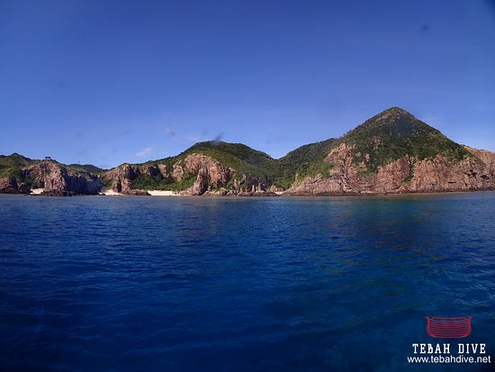 Tebah Dive: Beautiful view of the amazing landscape of Zamami Island, one of the many island of the National Park of Kerama Islands.