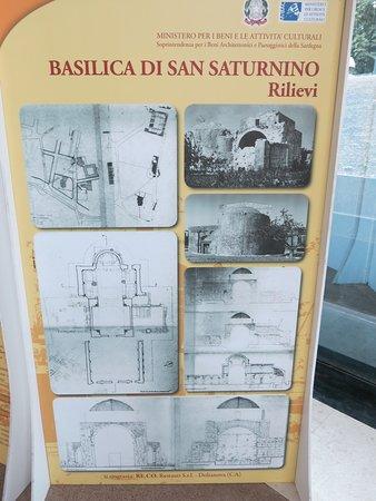 Panneau d'information sur la Basilique.