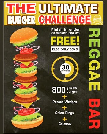 Eat for free if you can finish in 30 mins. Come and take a chance on this burger challenge which is totally doable!