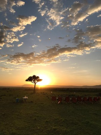 Kandili Camp: Sundowner set up