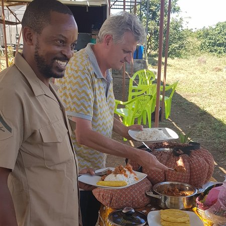 """Moshi, Tanzania: Organic food and planting tree's, how cool is that .   """" take care of me and I will do just the same"""" Tree language"""
