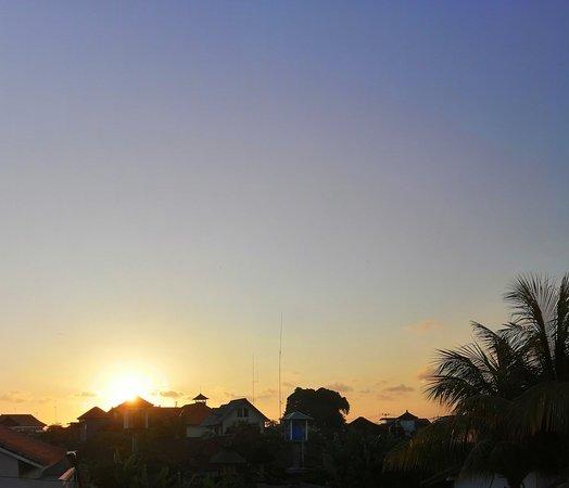 Beautiful sunset from my room at Kubu Indah Homestay.