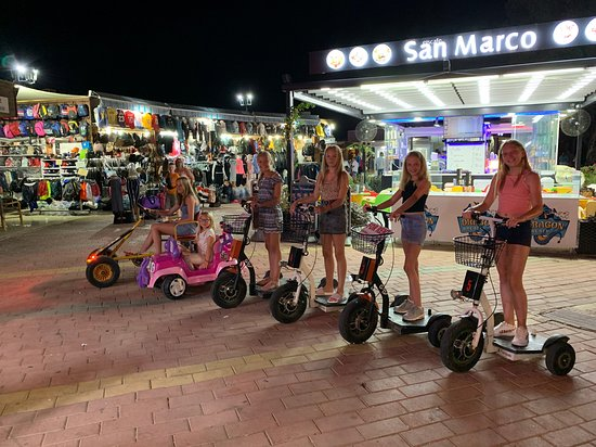 My kids and friends all hired segways on the island. around 5 euros for 15 mins.