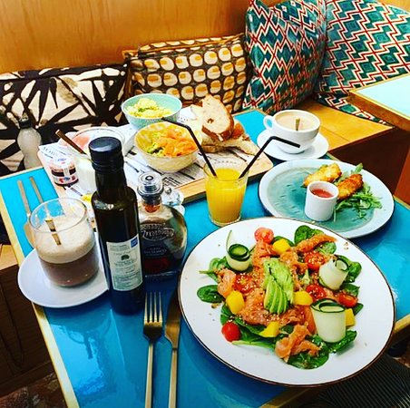 healthy and tasty lunch with organic products in Lova