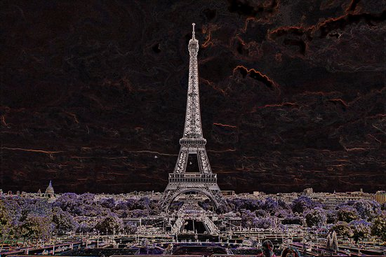 París, Francia: Parc du Champ de Mars. Фантазия.