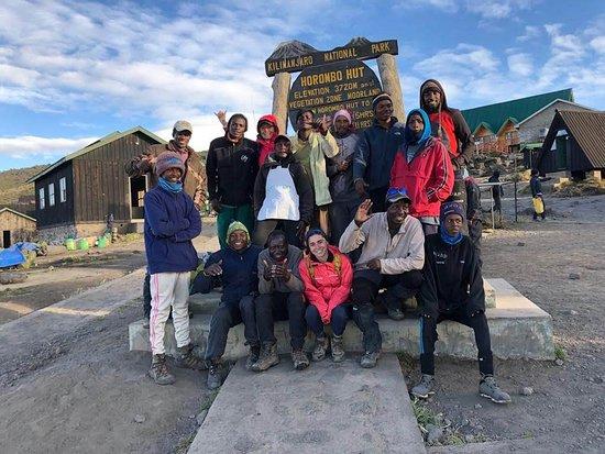 Moshi, Tanzania: our whole crew at Horombo hut