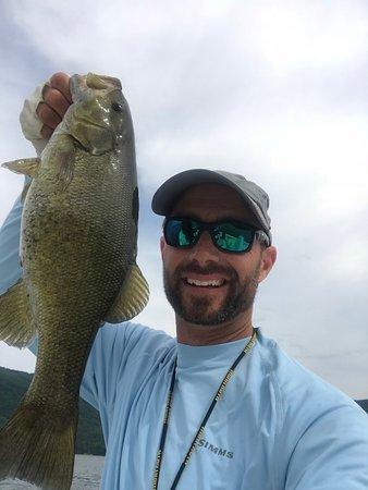 Silver Bay, NY: Fish selfie