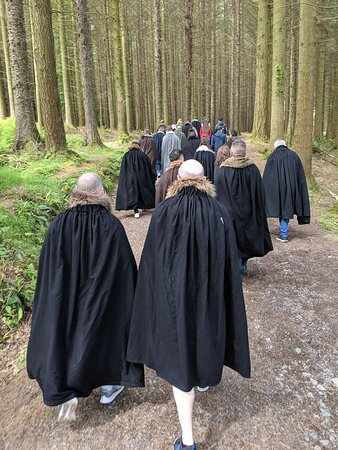 Game of Thrones® Winterfell Trek from Dublin: Walking in the forest