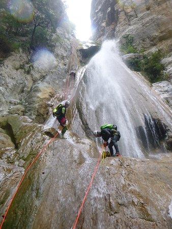 Canyon du St Aniol à la frontiére Espagnole