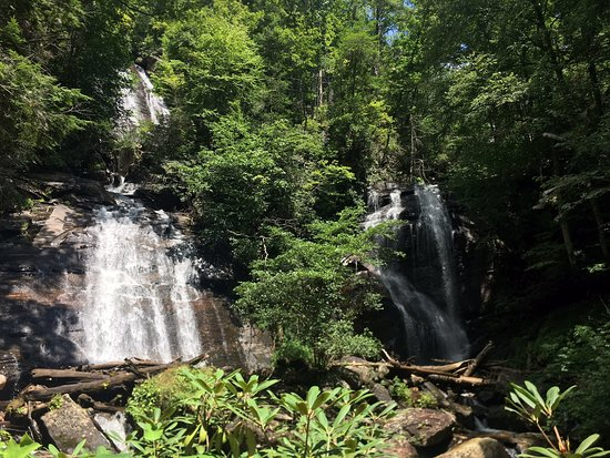 Lots of activities to choose from including chasing waterfalls: Anna Ruby Falls