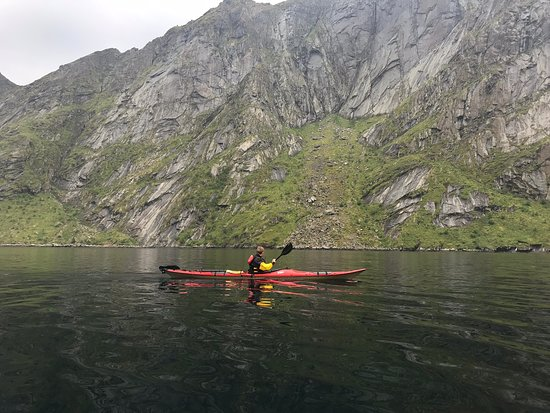 Kayaking on the fjord