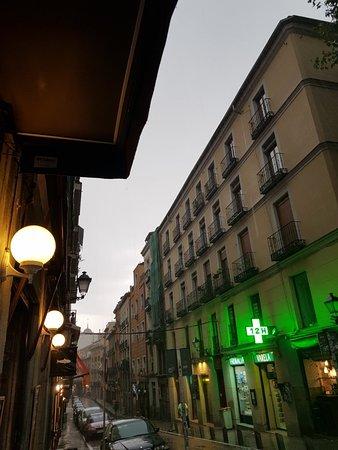 Rainy evening in Madrid