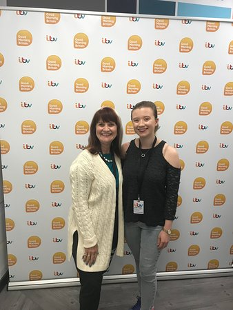 You can take your photo by the ITV backdrop! Made us feel like celebrities!