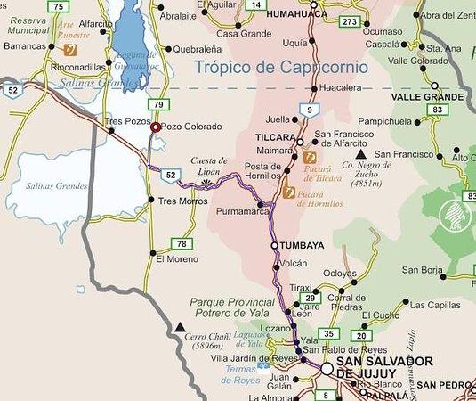 Tumbaya, Argentinië: Mapa de ubicación