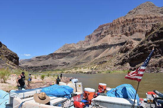 Western River Expeditions: Parked for a side trip.