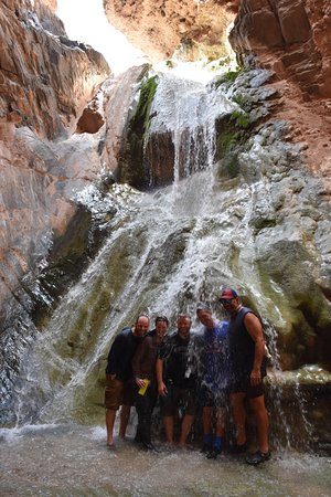 Western River Expeditions: A welcome shower.