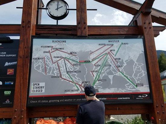 Ski lift/Gondola map of Whistler/Blackcomb