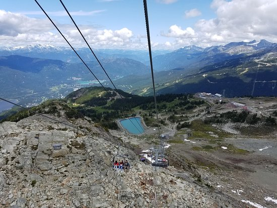 Whistler, Canada : Headed back to Earth from Skywalker Bridge and Raven's Eye