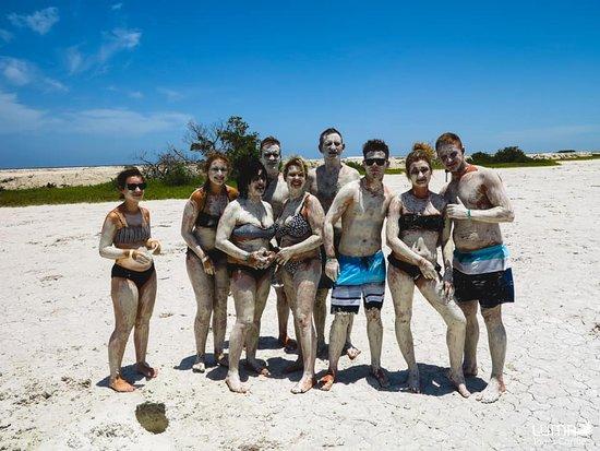 Luma Tours Caribe: Mayan mud bath in Ria Lagarto.