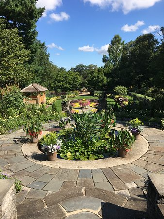 One of the many garden areas