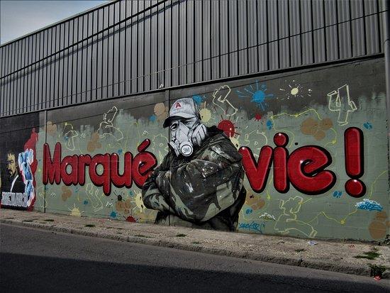 """Fresque """"Marqué à vie"""""""