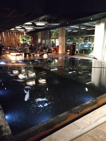Vista do lobby de chagada