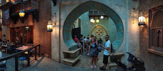 Panoramica dell'ingresso del ristorante