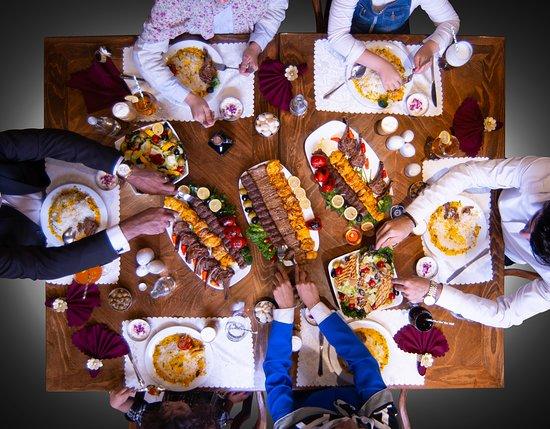 Iranian cuisine in Orkideh restaurant