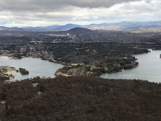 Telstra Tower Observation Deck Ticket: View Towards the Royal Mint Canberra