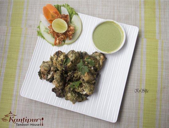 Pudina Chicken Tikka/ Mint Chicken Tiakk at Kantipur Tandoori House - Thamel, Kathmandu
