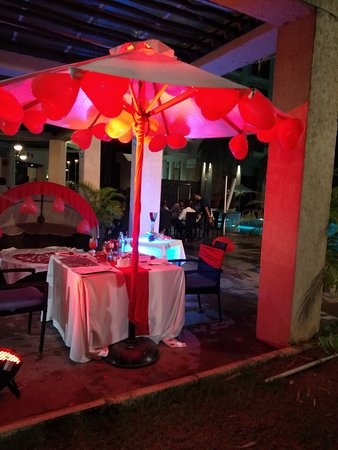 Candle light dinner at Novotel
