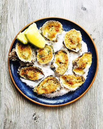 Baked North coast oysters