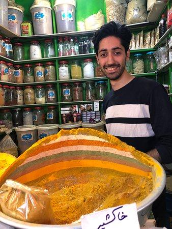 Spices on bazar in Esfahan