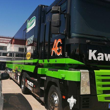 Provincia de Albacete, España: Hoy en el circuito de albacete, en el segundo día de entrenamientos oficiales para la carrera de mañana Domingo que estará de infarto según los resultados obtenidos en tiempos. @kawasakimadrid @palmeto #kawasakimadrid @michelin