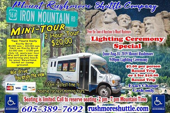 Mount-Rushmore Shuttle Company