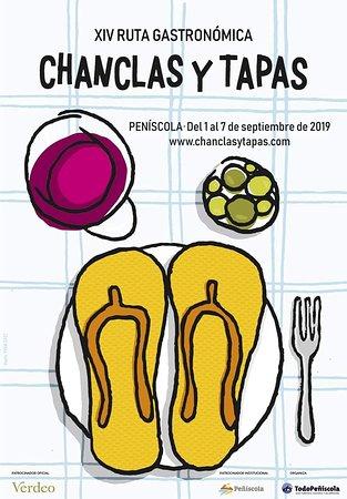 Chanclas y Tapas. Del 1 al 7 de Septiembre 2019. Horario: 14h-16h / 18h-19h30