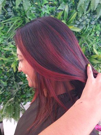 Hair colour and cut .