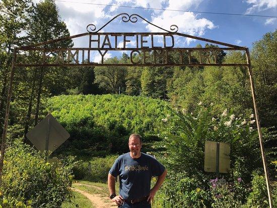 Hatfield Cemetery and grave of Devil Anse Hatfield in Sarah Ann, WV.