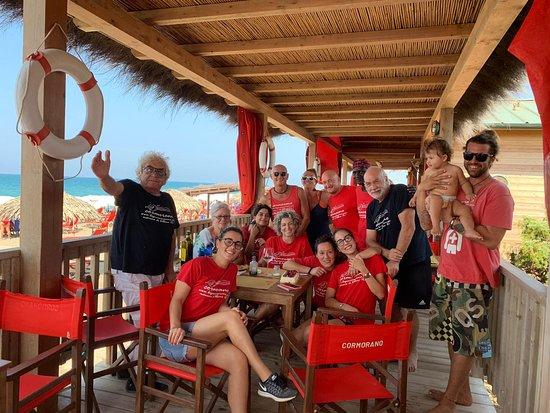 Bagno Cormorano: Lo staff a pranzo