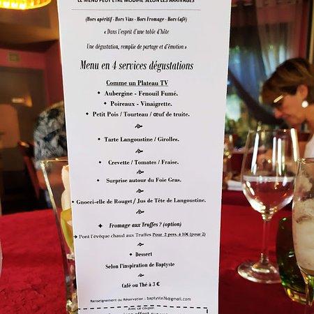 Motteville, Frankrike: Liste de tous les petites dégustations pour ce soir