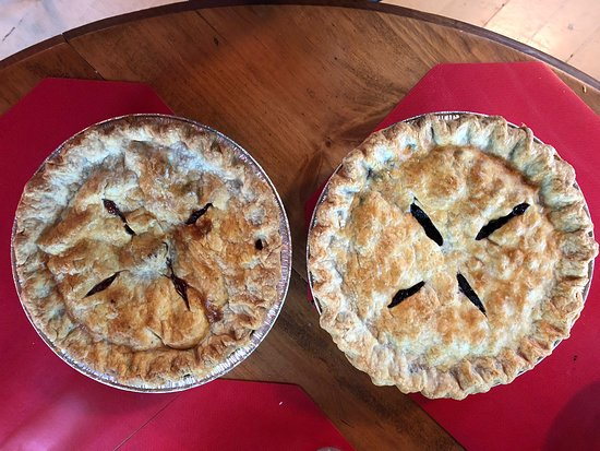 Belgrade, ME: The BEST pies.  FLAKY crust.  Perfectly done.