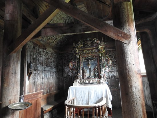Urnes, Norge: altar view