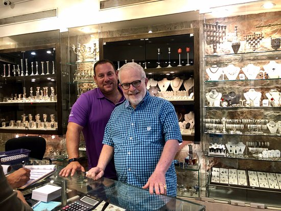 My Dad- Purchased Wedding rings 48 years ago at this very store on their honeymoon.  My Husband-Wears his Hebrew name ring from the year 2000 and just bought jewish stars for our girls as Bat Mitzvah presents.