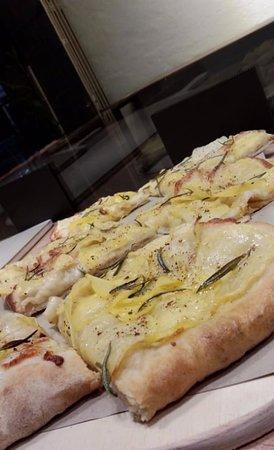 Potato Rosemary Pizza slice