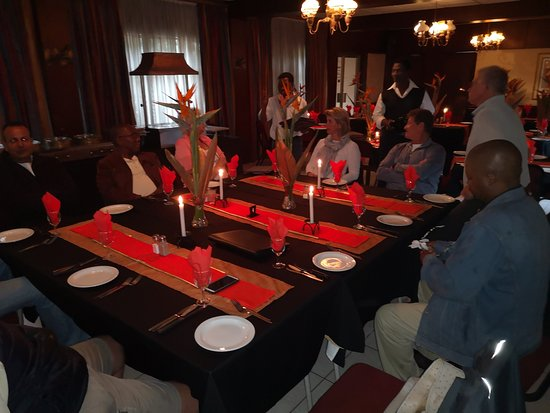 Umfolozi, Sudáfrica: Christmas staff lunch at Rivermill Restaurant! Great food and excellent value for money!