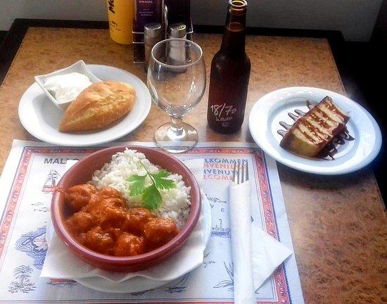 Plato del día: Albóndigas con Arroz, bebida, pan y postre... Todo por 8,50€ 😋  Restaurante Cafetería Colmar 📌Av. Gabriel Roca 27, Palma ☎️971735063  ¡¡Te esperamos!!  #mallorca #palma #maritimo #platodeldía