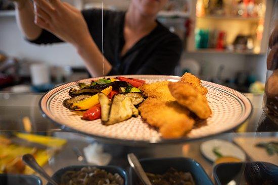 Escalope milanaise et légumes grillés !
